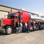 2012 Safety Meeting: our best attended group photo to date (drivers can be hard to gather up, go figure).